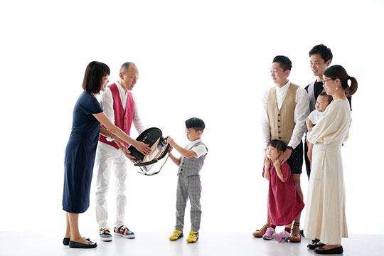 ご家族との写真撮影