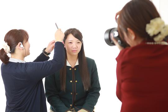 ライティングや姿勢など、プロの指導のもと撮影