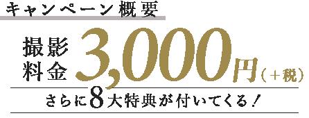 キャンペーン概要 通常撮影料金11,000円(+税)→0円