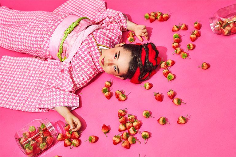 大好きイチゴでキュートに